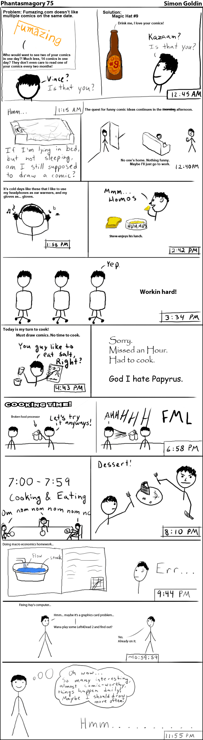 Phantasmagory 75 – Hourly Comics